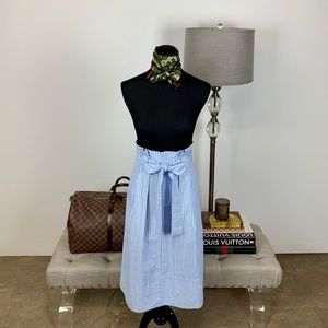 Club Monaco Dilys Skirt Jupe Blue Stripe Size 2